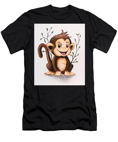 Manny The Monkey Men's T-Shirt (Athletic Fit)