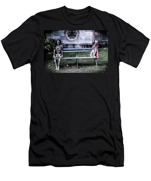 Men's T-Shirt (Slim Fit) featuring the photograph Man's Best Friend Till The End by Colleen Kammerer