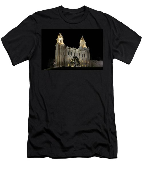 Manti Temple Night Men's T-Shirt (Athletic Fit)