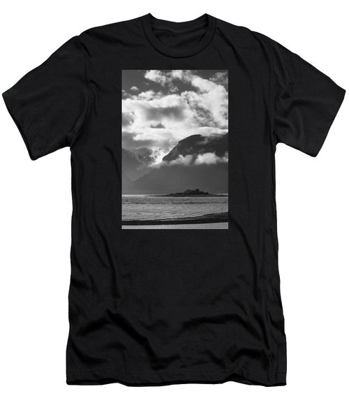 Men's T-Shirt (Slim Fit) featuring the photograph Many Moods Of Pyramid Island by Michele Cornelius