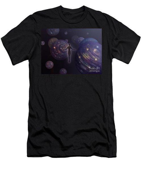 Many Worlds Men's T-Shirt (Slim Fit) by Amyla Silverflame