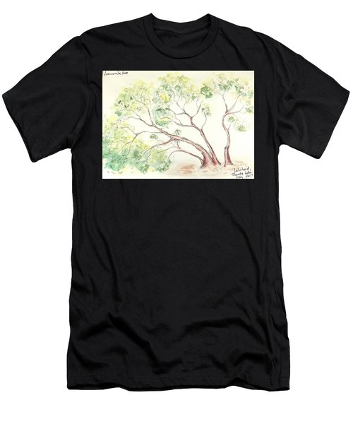 Men's T-Shirt (Athletic Fit) featuring the painting Manzanita Tree by Maria Langgle