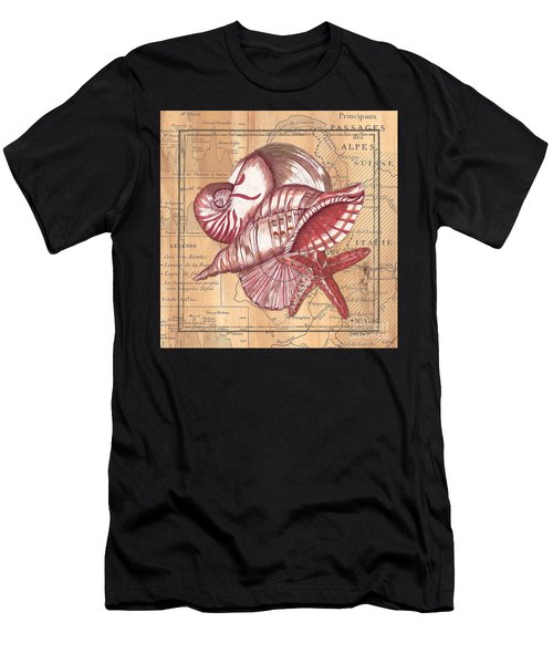 Map And Shells Men's T-Shirt (Athletic Fit)