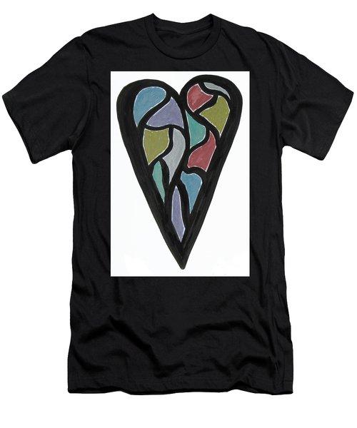 Map Heart Men's T-Shirt (Athletic Fit)