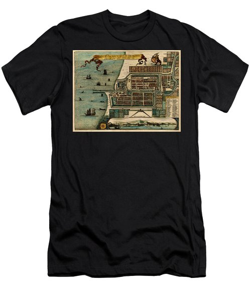 Map Of Java 1669 Men's T-Shirt (Slim Fit) by Andrew Fare