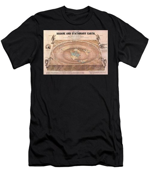Map Of The Flat Earth Men's T-Shirt (Athletic Fit)