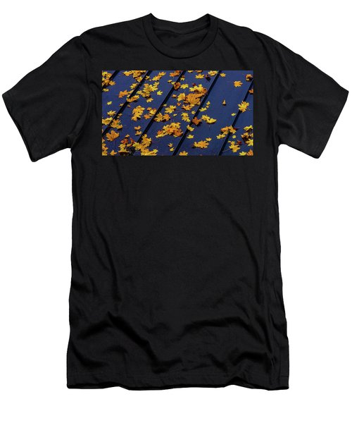 Maple Leaves On A Metal Roof Men's T-Shirt (Athletic Fit)