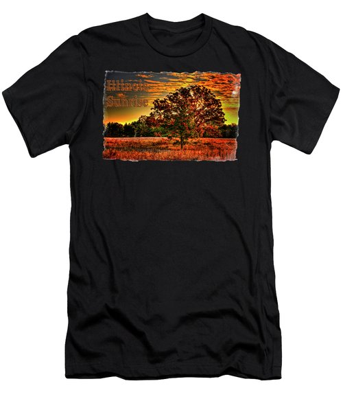 Maple Tree On An Illinois Priaire Early Autumn Men's T-Shirt (Athletic Fit)