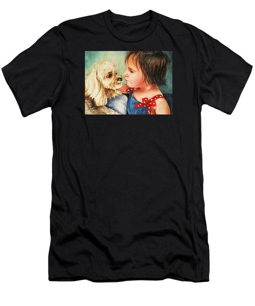 Men's T-Shirt (Athletic Fit) featuring the painting Mara Meets Mocha by Diane Fujimoto