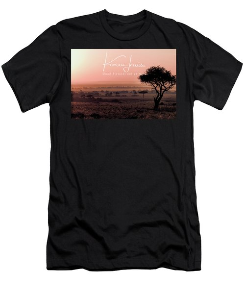 Men's T-Shirt (Slim Fit) featuring the photograph Mara Pink Dawn  by Karen Lewis