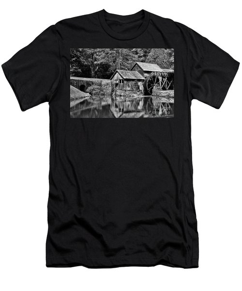 Marby Mill In Black And White Men's T-Shirt (Slim Fit) by Paul Ward