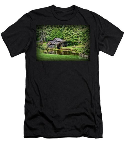 Marby Mill Landscape Men's T-Shirt (Slim Fit) by Paul Ward