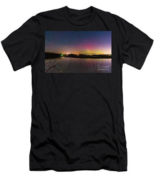March 6 Aurora Over Scarborough Marsh  Men's T-Shirt (Athletic Fit)