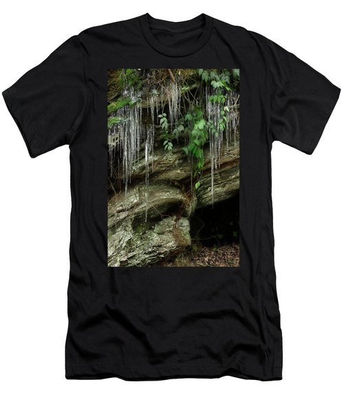Men's T-Shirt (Slim Fit) featuring the photograph March Icicles 2 by Mike Eingle