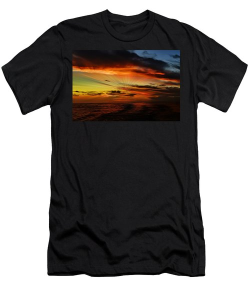 Men's T-Shirt (Athletic Fit) featuring the photograph Marco Sunset Rays by Mark Myhaver
