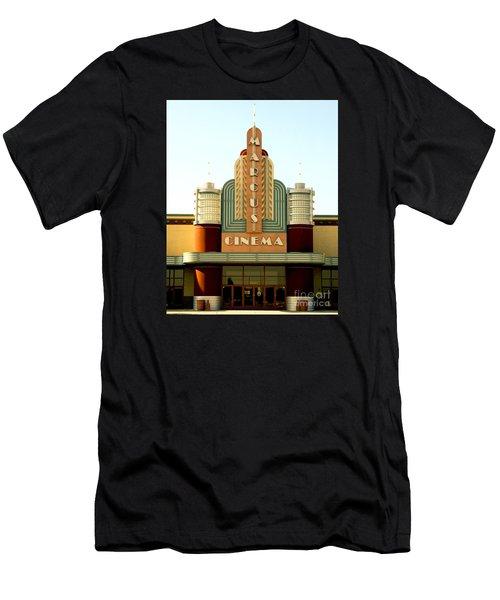 Men's T-Shirt (Slim Fit) featuring the photograph Marcus Renaissance Cinema, Racine Wisconsin  by Ricky L Jones
