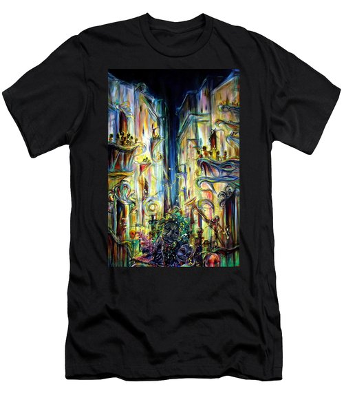 Men's T-Shirt (Slim Fit) featuring the painting Mardi Gras by Heather Calderon