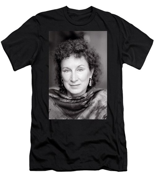 Margaret Atwood Men's T-Shirt (Slim Fit) by Shaun Higson