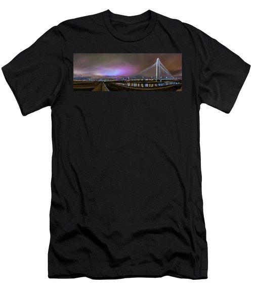 Margaret Hunt Hill Bridge - Dallas Texas Men's T-Shirt (Slim Fit) by Micah Goff