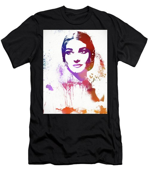 Maria Callas Paint Splatter Men's T-Shirt (Athletic Fit)