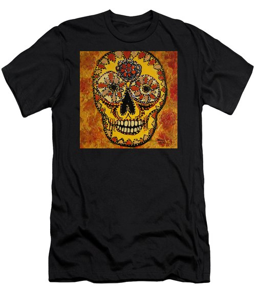 Marigold Skull Men's T-Shirt (Athletic Fit)