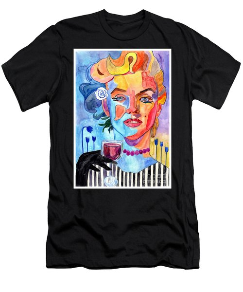 Marilyn Monroe Drinking Wine Men's T-Shirt (Athletic Fit)