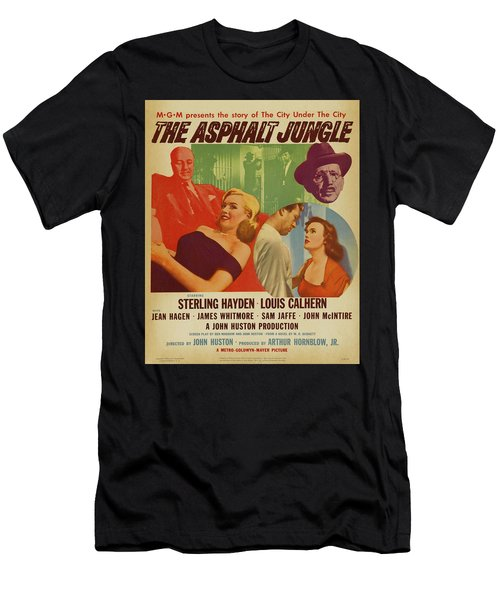 Marilyn Monroe In The Asphalt Jungle Movie Poster Men's T-Shirt (Athletic Fit)