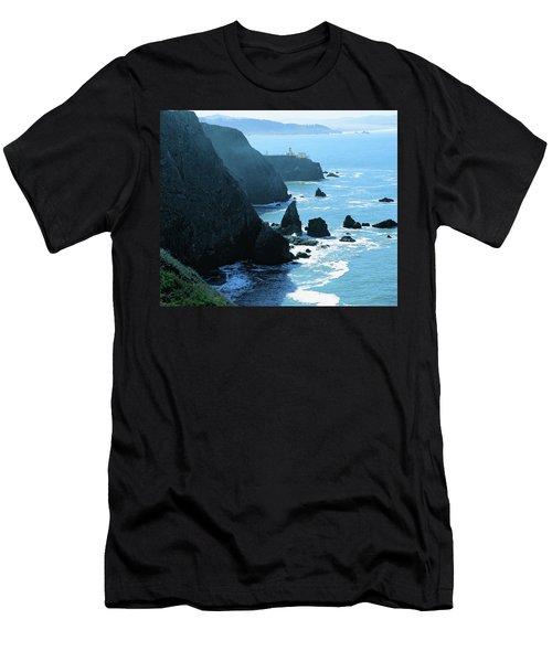 Marin Coastline Men's T-Shirt (Slim Fit) by Utah Images