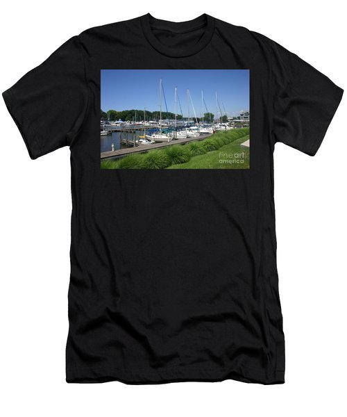 Marina On Black River Men's T-Shirt (Athletic Fit)