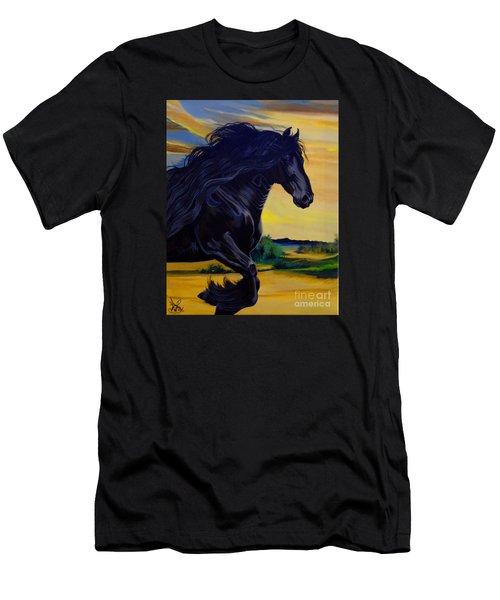 Friesian Paradise Men's T-Shirt (Athletic Fit)