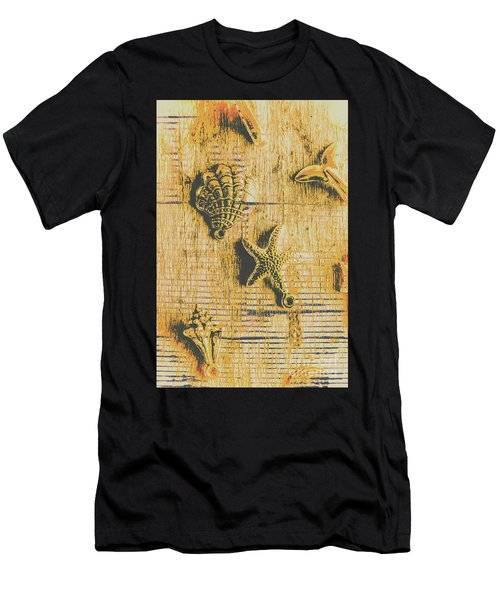 Maritime Sea Scroll Men's T-Shirt (Athletic Fit)