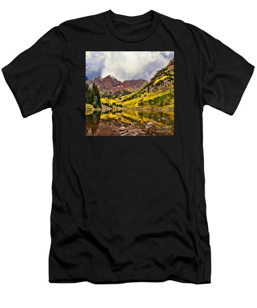 Maroon Bells Lake Men's T-Shirt (Athletic Fit)