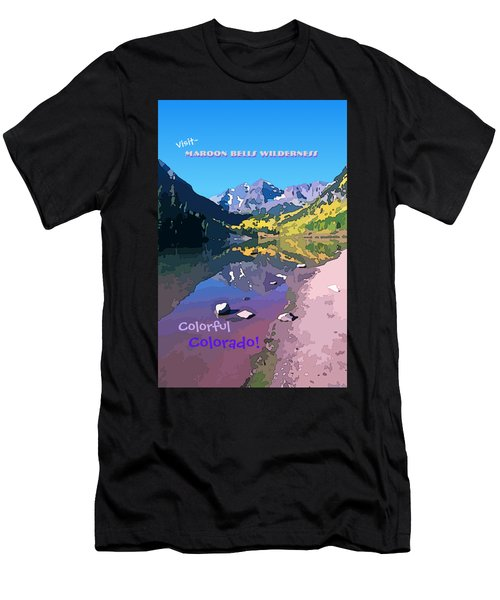 Maroon Bells Wilderness. Aspen, Colorado Men's T-Shirt (Athletic Fit)