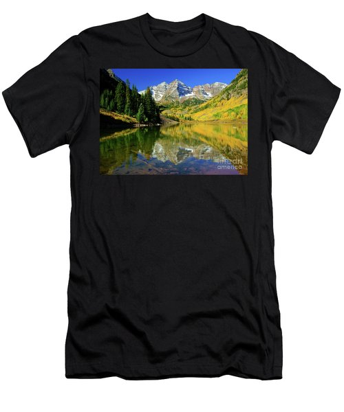 Maroon Lake Autum - 1 Men's T-Shirt (Athletic Fit)