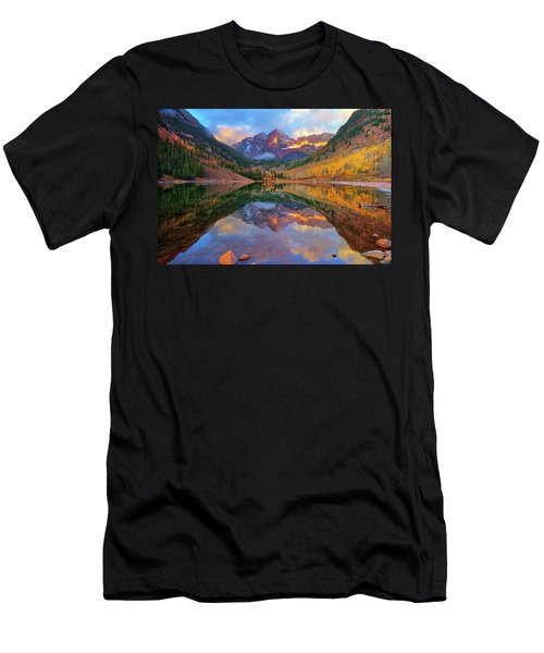 Maroon Lake Dawn Men's T-Shirt (Slim Fit) by Greg Norrell