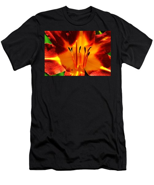 Maroon Lily Men's T-Shirt (Athletic Fit)