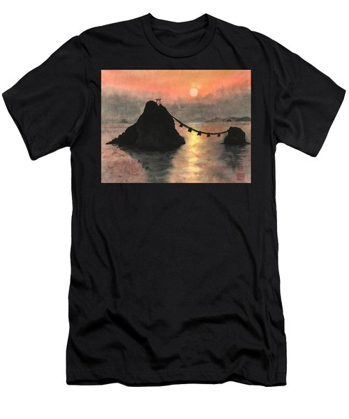Married Couple Rocks At Sunset Men's T-Shirt (Athletic Fit)