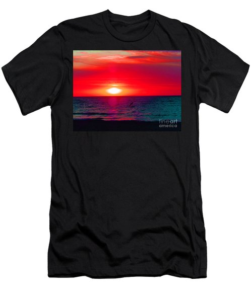 Mars Sunset Men's T-Shirt (Athletic Fit)
