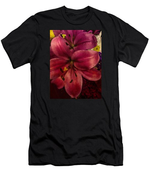 Marsala Lily Men's T-Shirt (Athletic Fit)