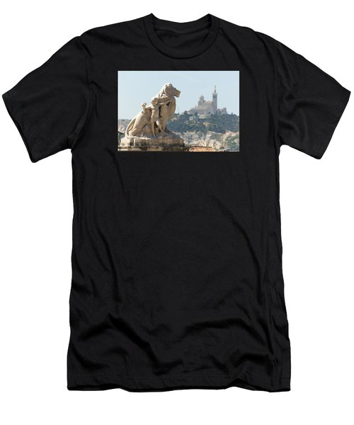 Marseille-saint-charles Statue, France Men's T-Shirt (Athletic Fit)