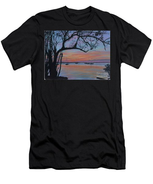 Marsh Harbour At Sunset Men's T-Shirt (Athletic Fit)