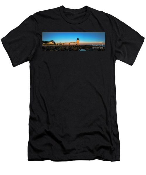 Marshall Point Lighthouse Men's T-Shirt (Slim Fit) by Diane Diederich