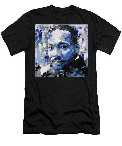 Men's T-Shirt (Slim Fit) featuring the painting Martin Luther King Jr by Richard Day