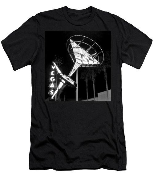 Martini Sign In Vegas B-w Men's T-Shirt (Athletic Fit)