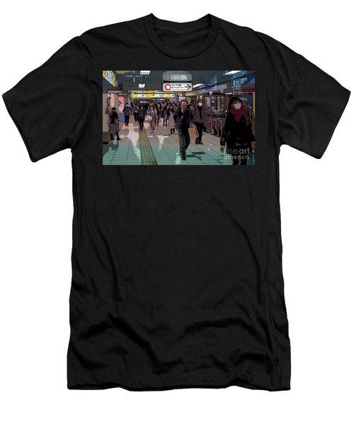 Marunouchi Line, Tokyo Metro Japan Poster Men's T-Shirt (Athletic Fit)