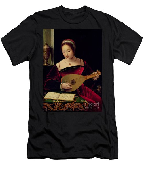Mary Magdalene Playing The Lute Men's T-Shirt (Athletic Fit)