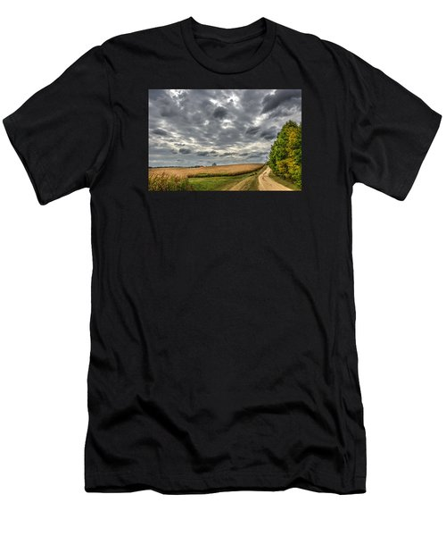 Maryland Country Road In Autumn At Twilight Men's T-Shirt (Athletic Fit)