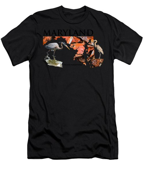 Maryland - The Land Of Pleasant Living Men's T-Shirt (Athletic Fit)
