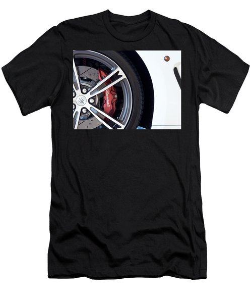 Maserati Wheel White Men's T-Shirt (Athletic Fit)