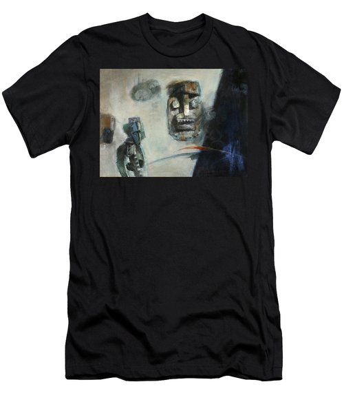 Symbol Mask Painting -02 Men's T-Shirt (Slim Fit) by Behzad Sohrabi